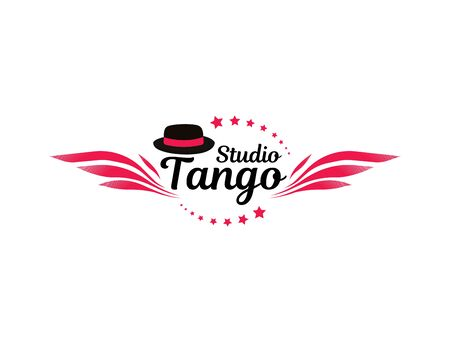 Tango dance. Symbol, element, emblem. School of dance training.  イラスト・ベクター素材