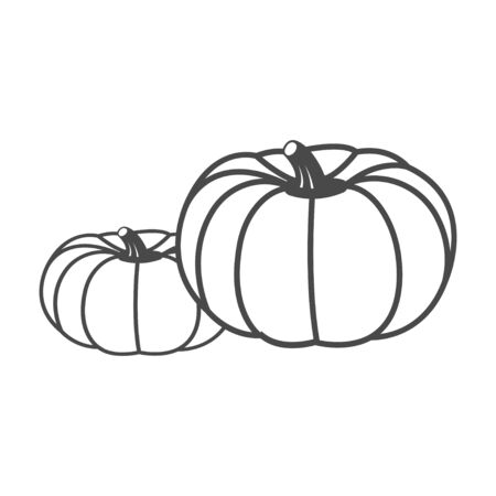 Vector pumpkin. Graphic element, emblem, symbol, icon, sign, template for printing 免版税图像 - 130092577