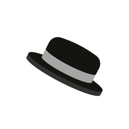 Vector flat. Headdress. Black hat.  イラスト・ベクター素材
