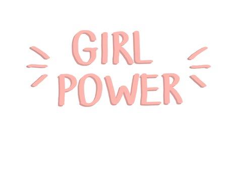 Girl power. Pink digital lettering. Vector illustration. Illustration