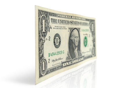 dollar bill: Dollar bill on a white background Stock Photo