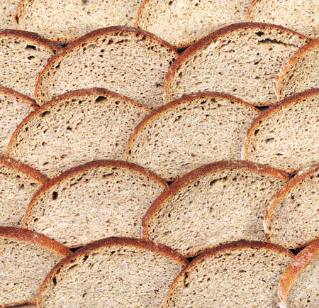 Bread from rye flour background photo