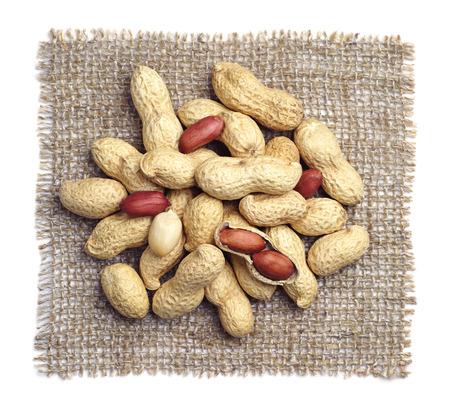 Peanuts on burlap