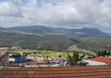 View from Tzfat (Safed). Upper Galilee, Israel