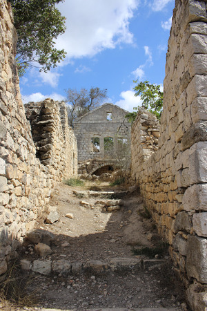 Ruins of an ancient town in the North of Israel.