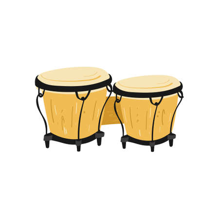 Hand drawn style vector illustraction of musical instrument - bongos.