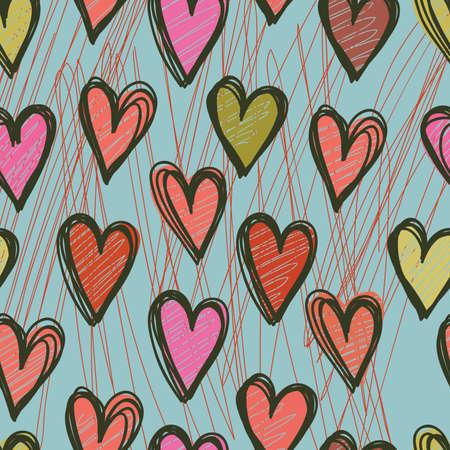 Seamless heart pattern Stock Vector - 8139958