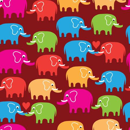 childlike: seamless pattern with elephant Illustration