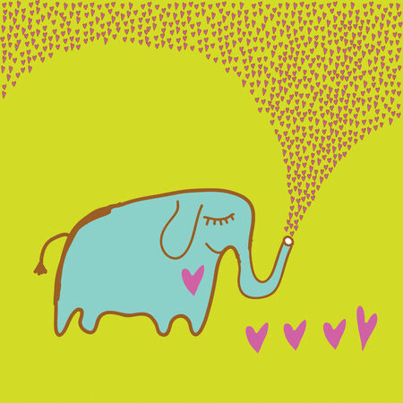 animal mating: Elephant in love