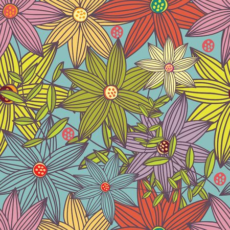 Floral seamless pattern Stock Vector - 9294165