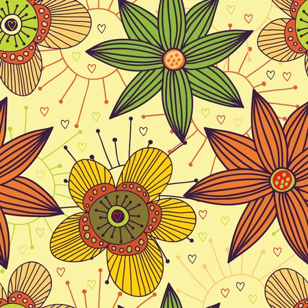 Floral seamless pattern Stock Vector - 9294161