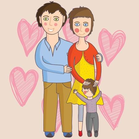 Happy family Stock Vector - 9294131