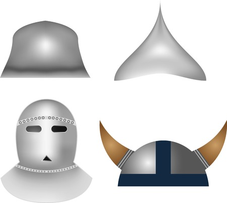 medieval knight: Medieval knight helmets