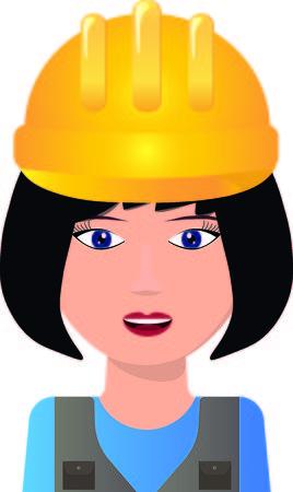 Young woman in helmet Vector