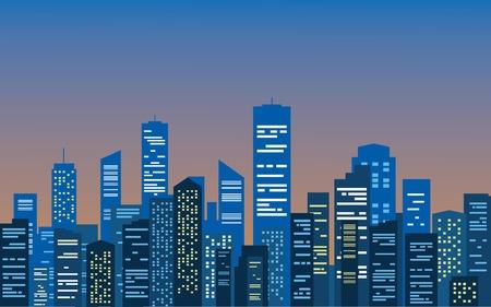 City at the morning