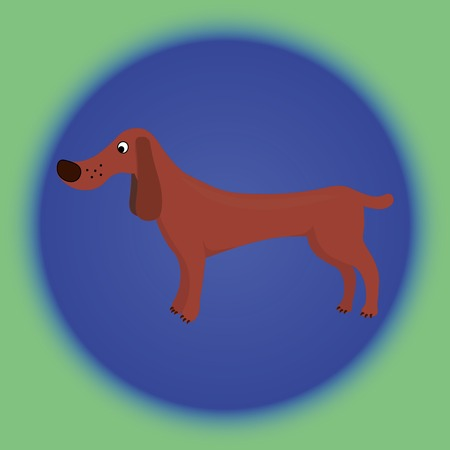 wagging: Vector image of a cartoon dog