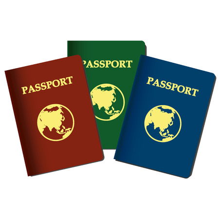 Passports with earth Illustration
