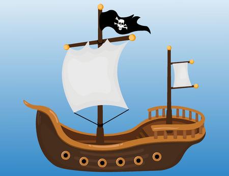 drapeau pirate: Navire pirate