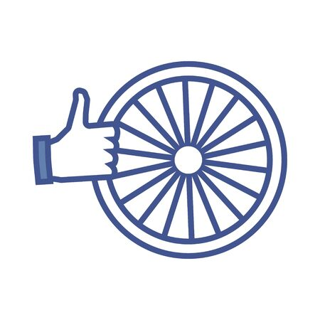 like icon: Bike wheel like icon