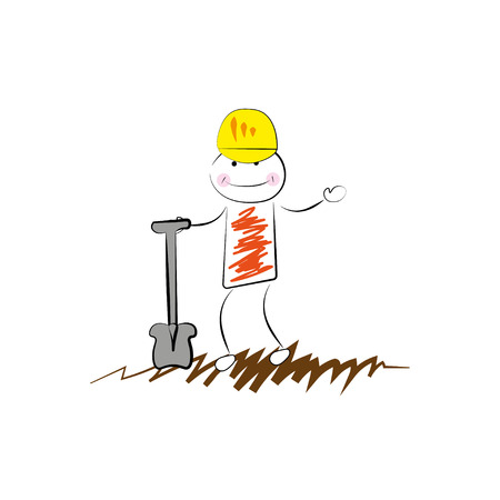 digger: Digger man - cartoon icon