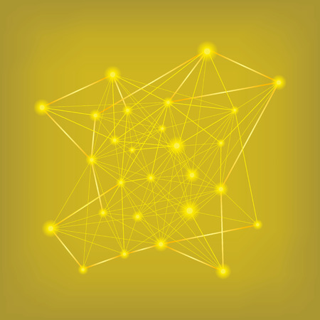 Abstract yellow data connections