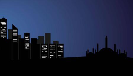 mohammad: Arabic city at the night Illustration