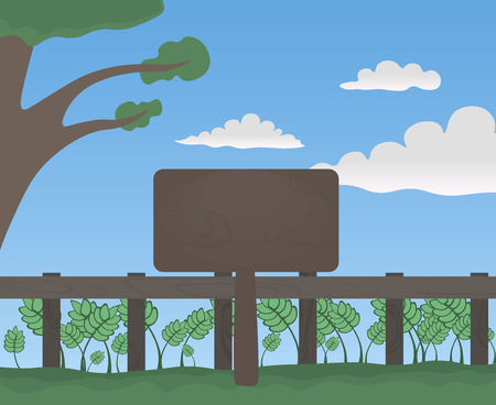 Signboard in the forest Vector