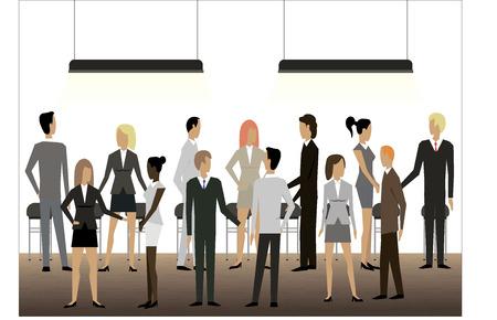 pessoas: Empres Ilustração