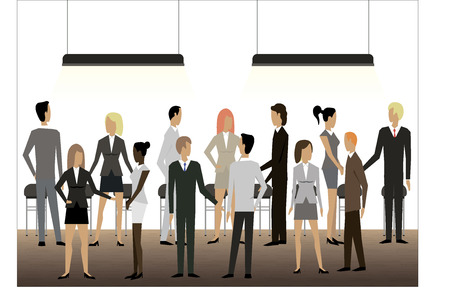 multitud gente: La gente de negocios