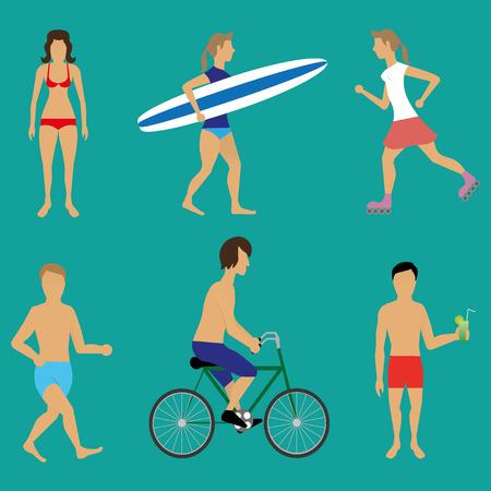 beachwear: Beach people