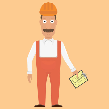 belt up: Funny construction worker