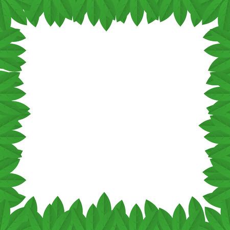 rectangle frame: Leaves rectangle frame