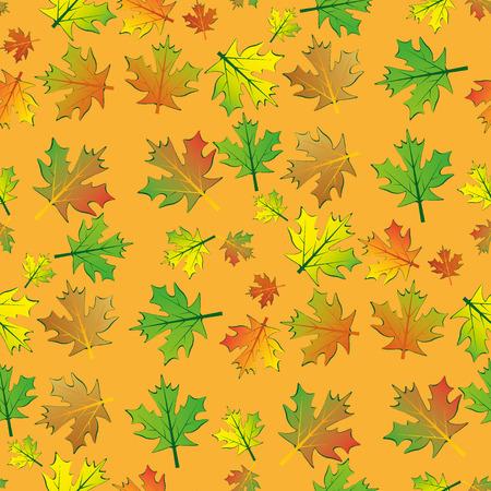 rare: Seamless rare maple leaves background Illustration
