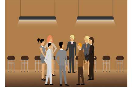discussion: Business discussion Illustration