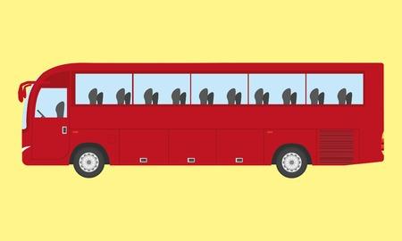 touristic: Color touristic or coach bus