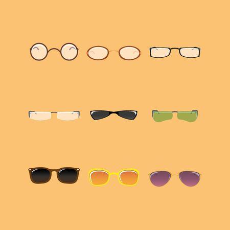 eye glasses: Set of eye glasses Illustration