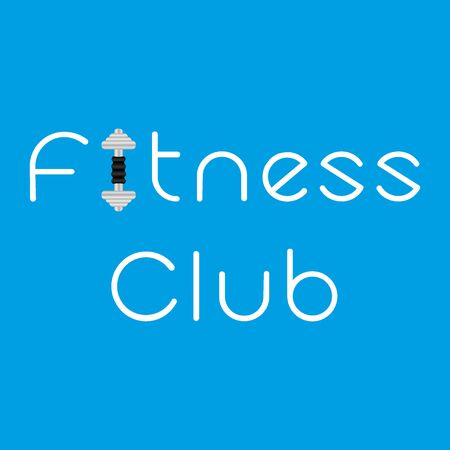 pulsation: Fitness club with dumbbell