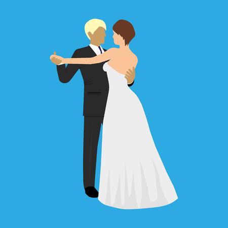 Ballroom waltz dance Stock Illustratie