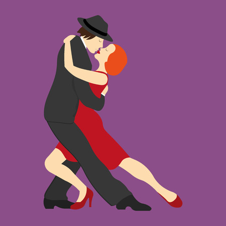 tango: A couple dancing the tango Illustration