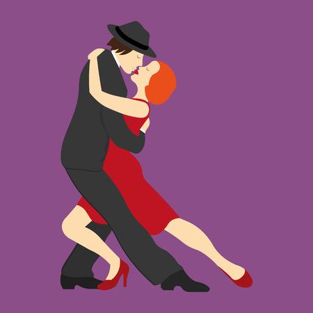 latin american girls: A couple dancing the tango Illustration