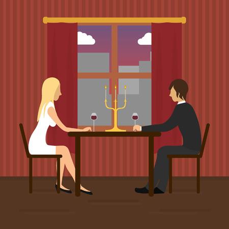 loving couple: Loving couple in restaurant