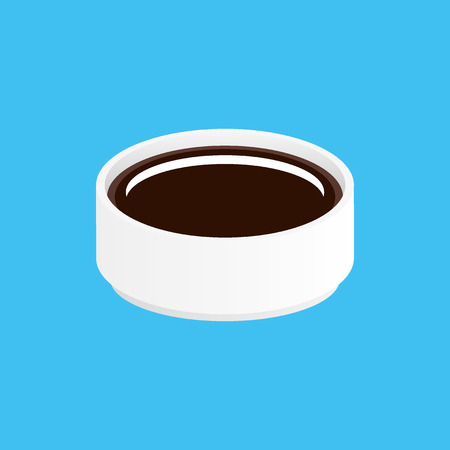 specialities: Soy sauce in bowl Illustration