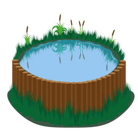 rural india: Pong with grass and reed Illustration