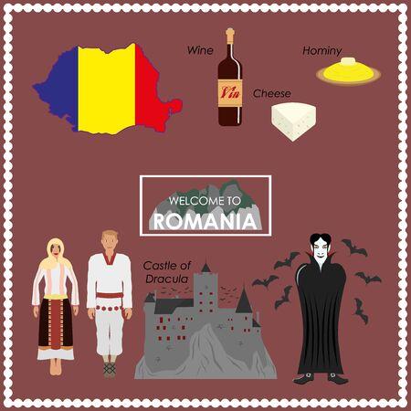 Roemenië infographics Vector Illustratie