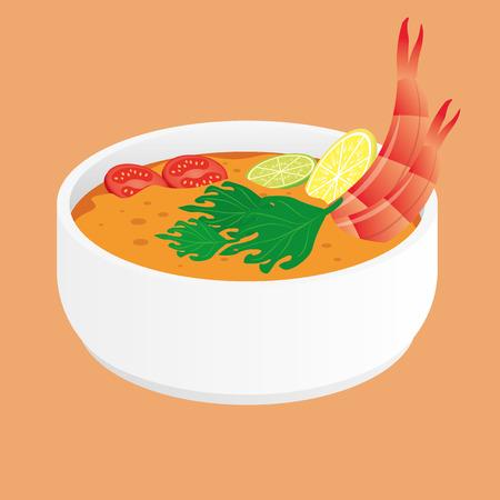 Tom yum kung. Thai soup.