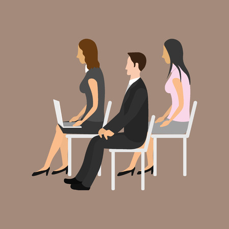 orating: Audience of businessmen and businesswomen Illustration