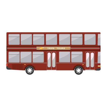 decker: Double decker english modern bus