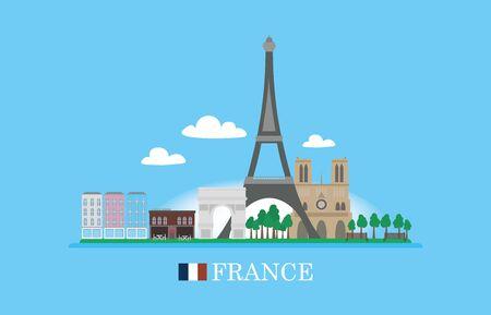 toulouse: France famous buildingds infographic