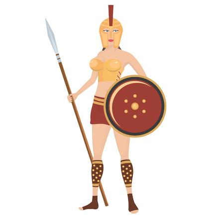 warrior woman: Ancient Greek warrior woman