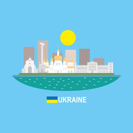 borscht: Ukraine famous buildingds infographic